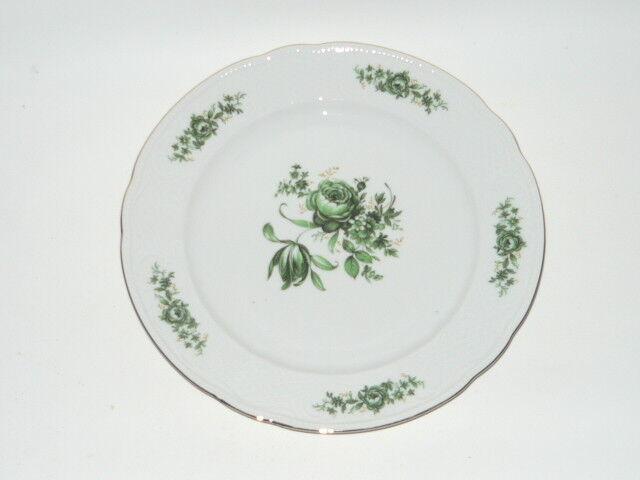 grüne Rose Serie Wien Teller ca Seltmann Weiden Top 19 cm Kuchenteller