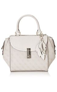 rrp Shoulder £150 Logo Guess Satchel New Handbag Grey Snake Print Brand Bag 7HfvwA