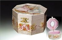 Girls Musical Jewelry Music Box Spinning Ballerina Ballet Shoes Plays Swan Lake, on sale