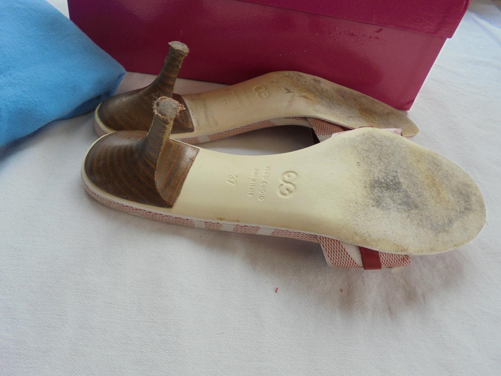 ☸ڿڰWunderschöne Escada Sandaletten NP  TOP Schuhe Schuhe TOP High Heel Gr 37 adf234