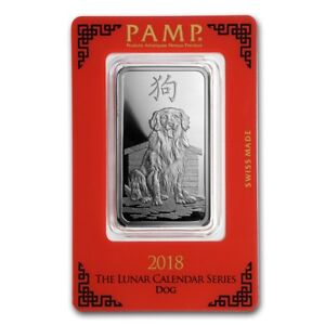 2018 1 Oz Pure 999 Silver Year Of The Dog Pamp