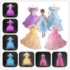 Kids Girl Princess Aurora Rapunzel Cinderella Snow White Cosplay Dress 2-8T