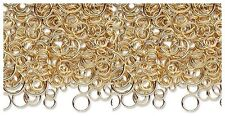 100 Gold Plated Brass Jump Rings Mix 3-12mm Round (8 Grams of Findings)