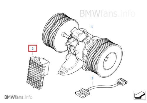 New BMW E60  E61  E63  E64 Final Stage Unit Blower Regulator 67636988452