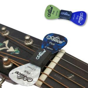 TR-Guitar-HeadStock-Rubber-Pick-Holder-amp-2Pcs-Plectrums-Celluloid-Guitar-Picks-SET