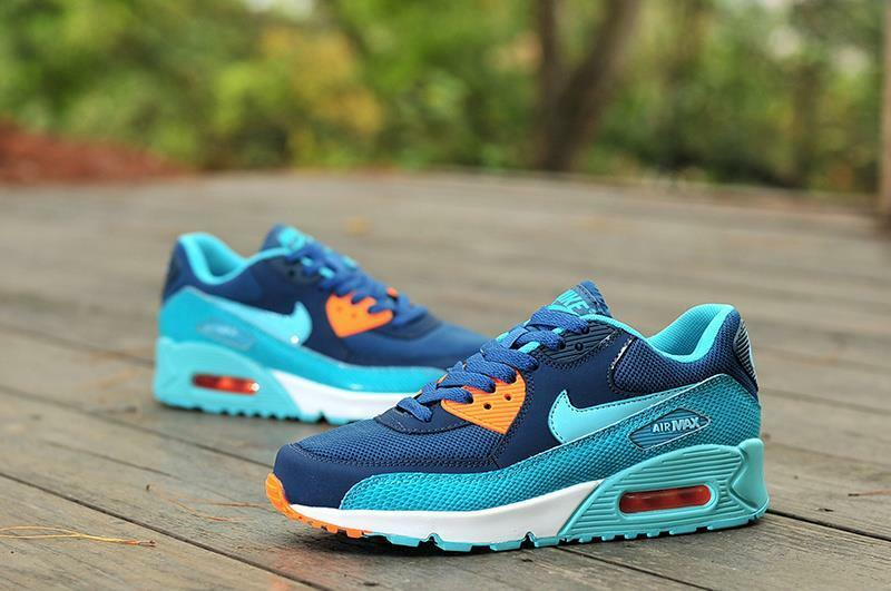 Limited Edition Nike Air Max 90 Running Training shoes-Space bluee Hyper Turquoise