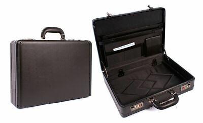 Black Unisex Slimline Deluxe PVC Executive Bag Work Business Carry Case