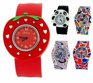 The-Olivia-Collection-Kids-Silicone-Slap-On-Watches-xmas-Gift-For-Girls-Boys