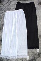 NEW 2 X LONG LENGTH SLIPS/UNDERSKIRTS BLACK OR WHITE UK 12/14/16/18/20/22/24