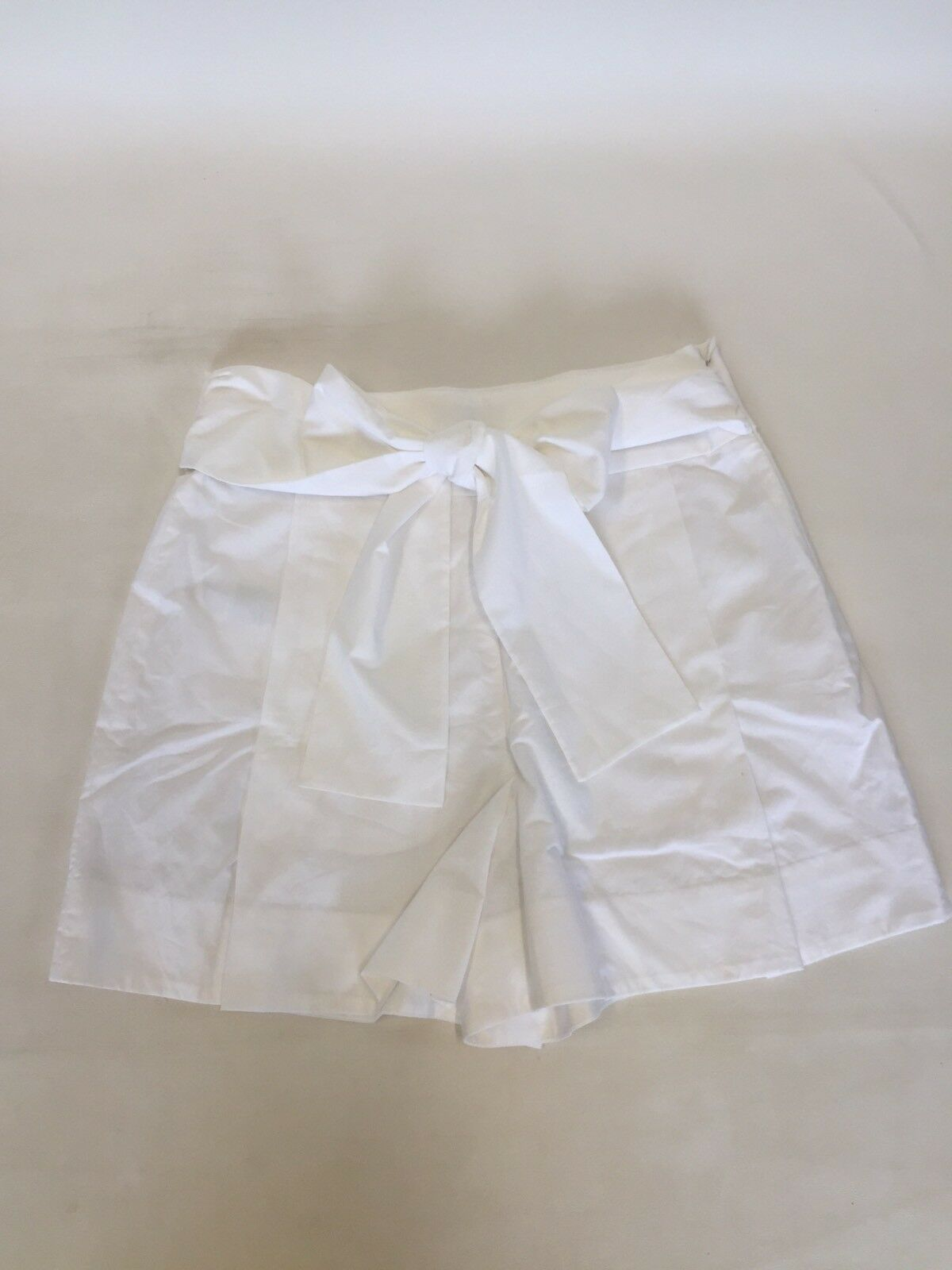 New JCREW Tie-waist short in cotton poplin White Sz 4 G4893  69