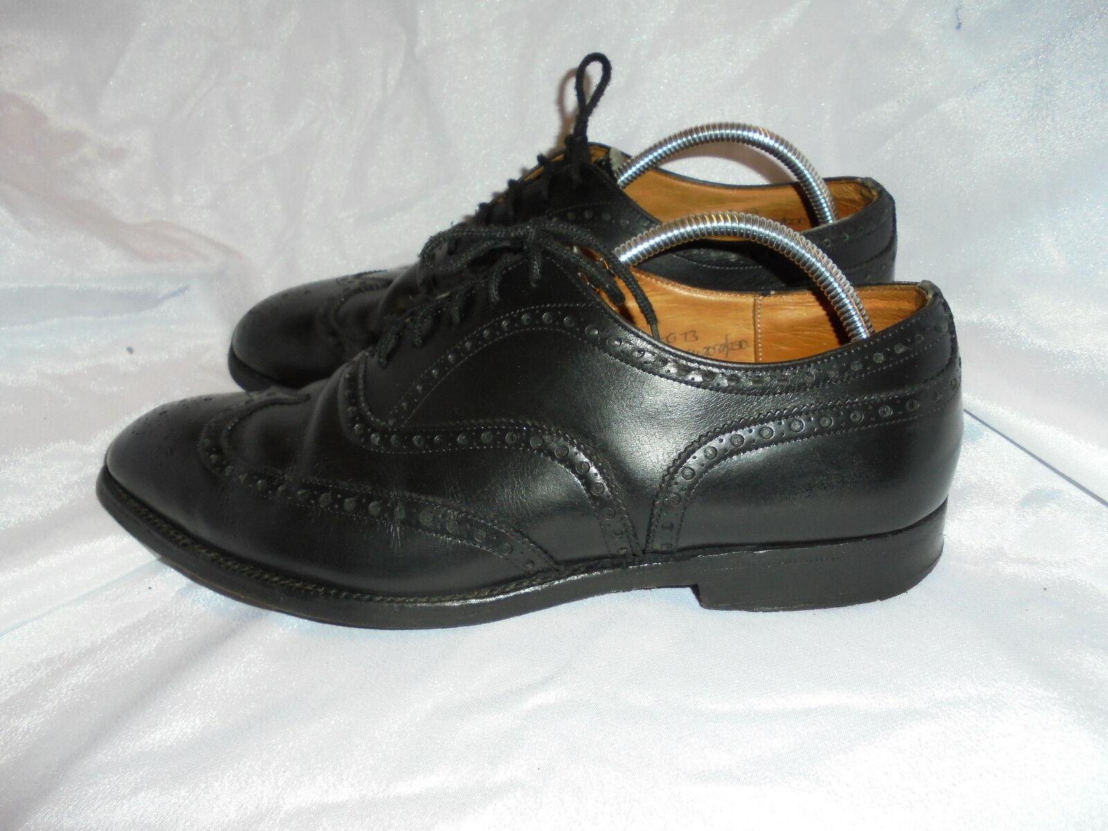 Churchs  Wingate  hommes en Cuir noir À Lacets chaussures Pointure UK 7.5 EU 41.5 très bon état