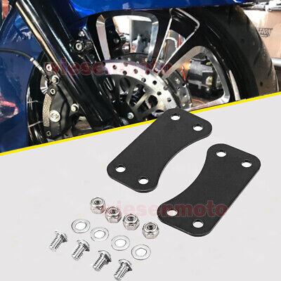 "1.25/"" Front Fender Brackets Spacers For 5.50/"" fender 21/"" Harley Touring 1984-201"