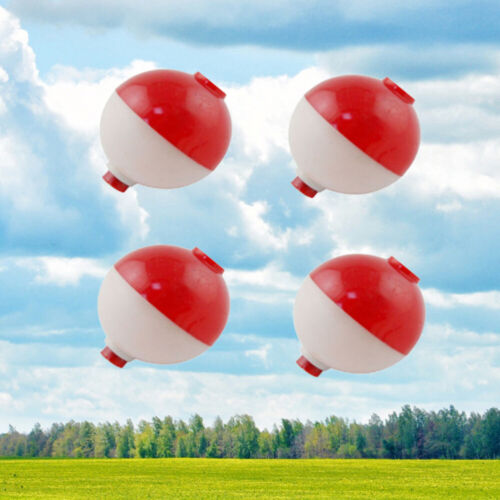 30pcs//lot Red and White 1 Inch Hard ABS Fishing Floats Plastic Floats