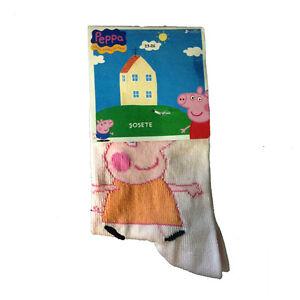 PEPPA-PIG-Calcetines-largo-rosa-caramelo-80-algodon-15-poliamida-5-elastano-de