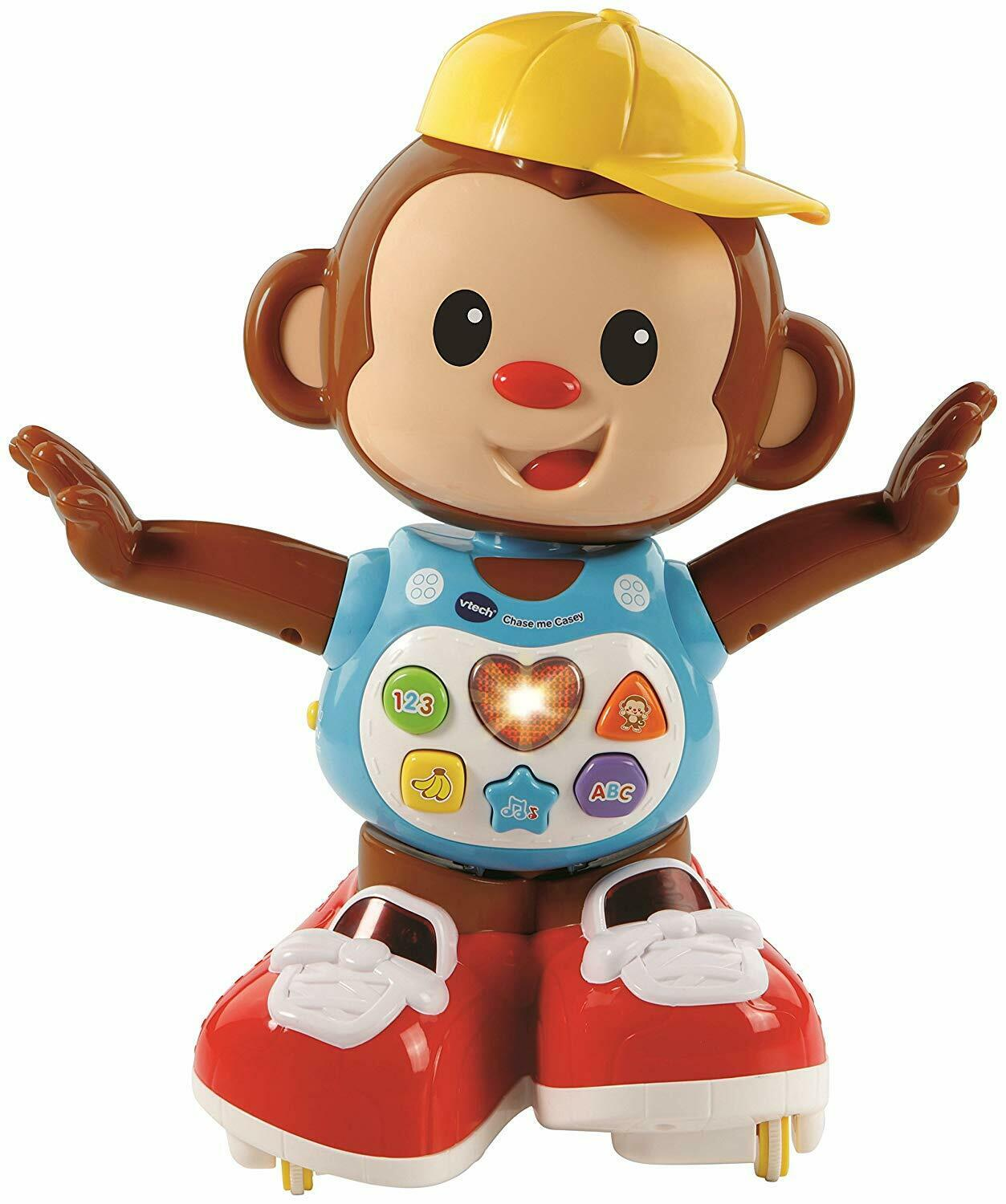 VTech Chase Me Casey Monkey Interactive Educational Dancing Skating Fun Baby Toy