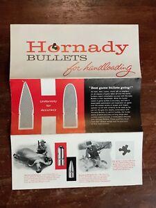 Details about Vintage Hornady Bullets Handloading Bullet Pamphlet List  Reloading Gun Guide