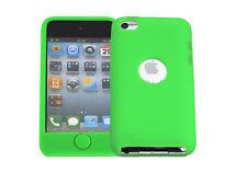 Hülle f Apple iPod Touch 4 Schutzhülle Tasche Case Cover Silikon TPU neongrün