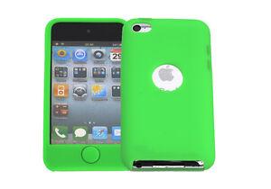 Huelle-f-Apple-iPod-Touch-4-Schutzhuelle-Tasche-Case-Cover-Silikon-TPU-neongruen