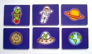 Analytique 6 Six Espace à Thème Cartes 7 X 5.5 Cm Environ Education Science Sujet-afficher Le Titre D'origine