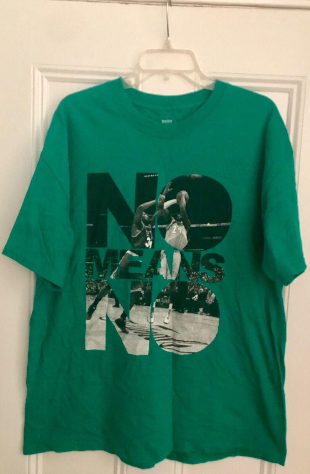 Authentic Bodega BDGA No Means No Paul Pierce Kobe Bryant NBA Finals tee t-shirt