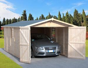 garage casetta in legno 320x520 porta tripla box auto moto