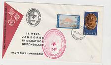 SCOUTS GREECE 1963 COVER FOR GERMAN CONTINGENT AT MARATHON JAMBOREE