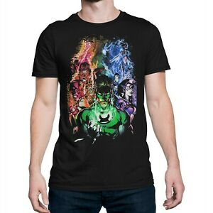 Green-Lantern-Blackest-Night-Group-T-Shirt-Black