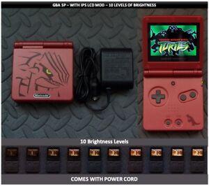 Nintendo Game Boy Advance GBA SP IPS MOD System 10 Level Brightness - Groudon