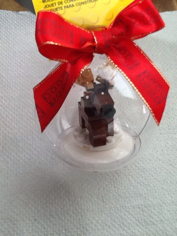 Lego Christmas Reindeer Ornament   Bauble