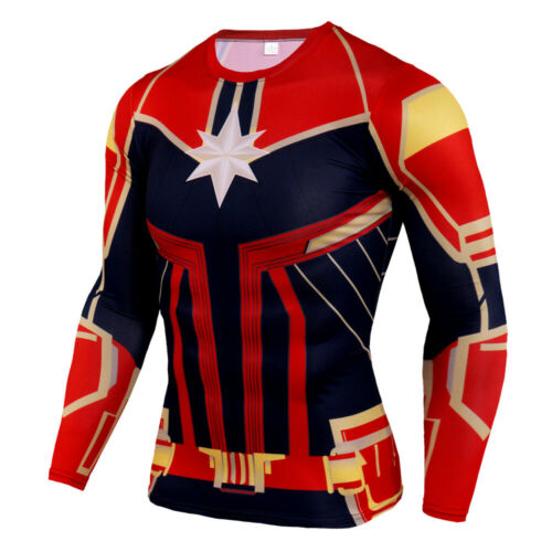 Hommes Marvel Superheros Avengers 3D Shirt Compression Top Cosplay vêtements Dri-Fit