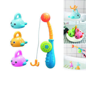Colorful Floating Fishing Games with Fish Rod in Bathtub Pool Shower Bath Toys