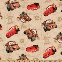Medical_surgical_ Scrub Hat_cap_mcqueen_mater_pixar_cars_movie_beige_cotton