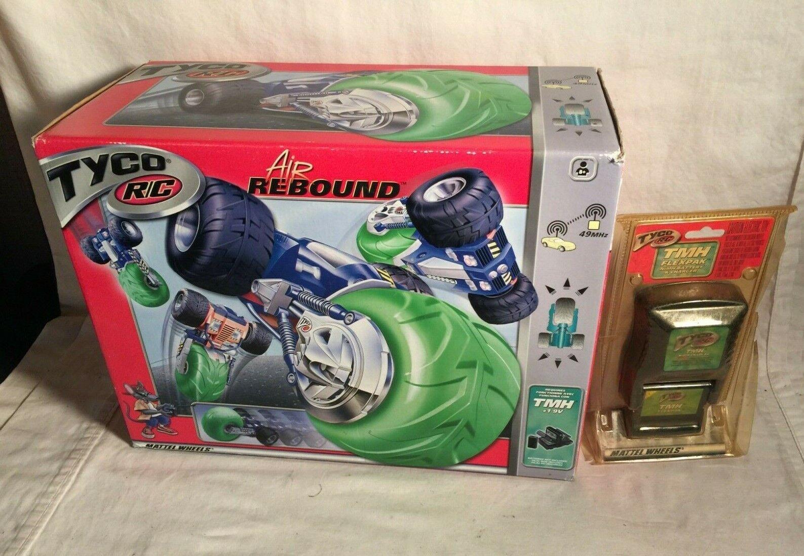 Tyco AIR REBOUND R C Mattel 2003 Ny i Box batteriladdare TMH FLEXPAK NiMH