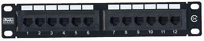 Affidabile Lms Data 12 Uscite Cat5e Pannello Patch Per 10 Pollici Custodia- Asciugare Senza Stirare
