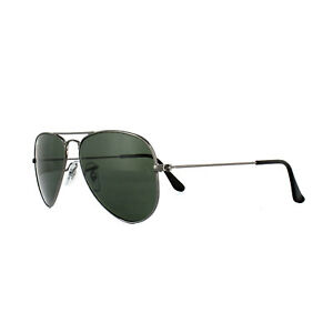 Ray-Ban-Sunglasses-Small-Aviator-3044-W3100-Gunmetal-Green-G-15