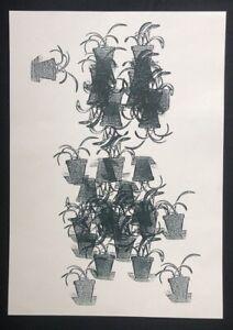 Ulrike Grossarth, Ohne Titel, materiale di formazione, la stampa offset, 1990, firmato a mano