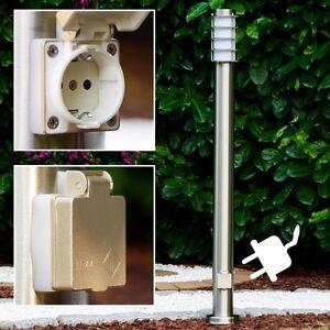 Lampadaire luminaire de jardin avec prise de courant lampe - Prise de courant jardin ...