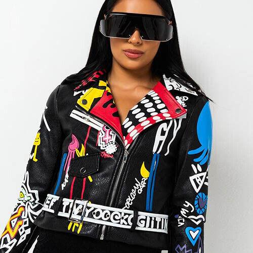 NEW AZALEA WANG Artsy Moto Jacket -SALE
