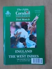 ENGLAND v WEST INDIES 1991 CRICKET PROGRAMME - FIFTH TEST MATCH - THE OVAL