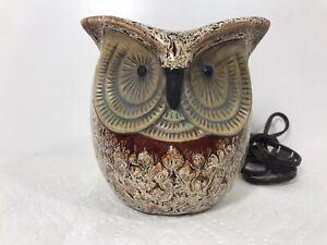 ScentSationals Ceramic Wax Warmer Light Up Owl Lamp Nightlight no tray