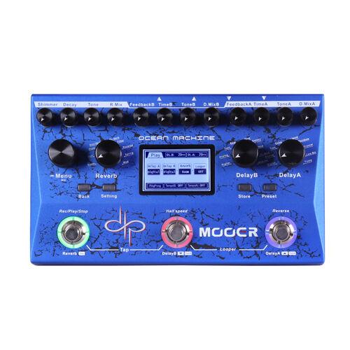 Mooer Ocean Machine Dual Delay Reverb Looper  Devin Townsend With Power Supply
