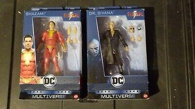 "NIB DC Multiverse Shazam /& Dr Sivana 6"" Movie Action Figures Set. Lot of 2"