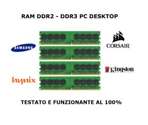 Memorie RAM (DDR2 - DDR3 - DDR4) PER DESKTOP