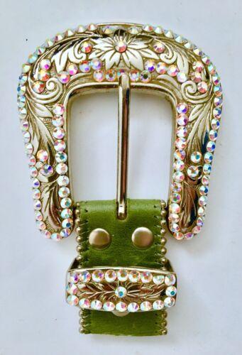 B.B. Simon Swarovski Crystal Belt Buckle And Loop