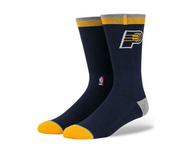 Stance Socks Size Large 9-12 Indiana Pacers Arena Logo Classic Pique Fit no 558