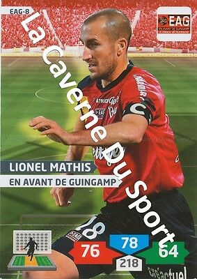 EAG-08 LIONEL MATHIS # GUINGAMP CARD ADRENALYN FOOT 2014 PANINI