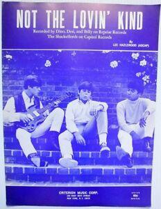 60/'s POP Desi /& Billy SHEET MUSIC Not The Lovin/' Kind CRITERION Publ Dino