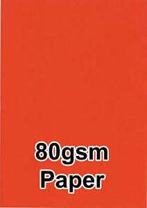 100-Intenso-Colore-Rosso-80gsm-A4-Fotocopiatrice-Ink-Jet-Stampante-Laser-Carta
