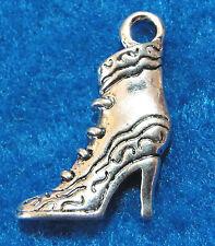 10Pcs. Tibetan Silver Woman HIGH HEEL BOOT SHOE Charms Pendants Ear Drops PR22