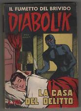 DIABOLIK prima serie N.12  ingoglia  LA CASA DEL DELITTO originale 1963 1a I